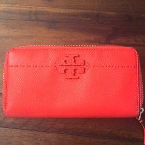 "Tory Burch large wallet ""orange"""